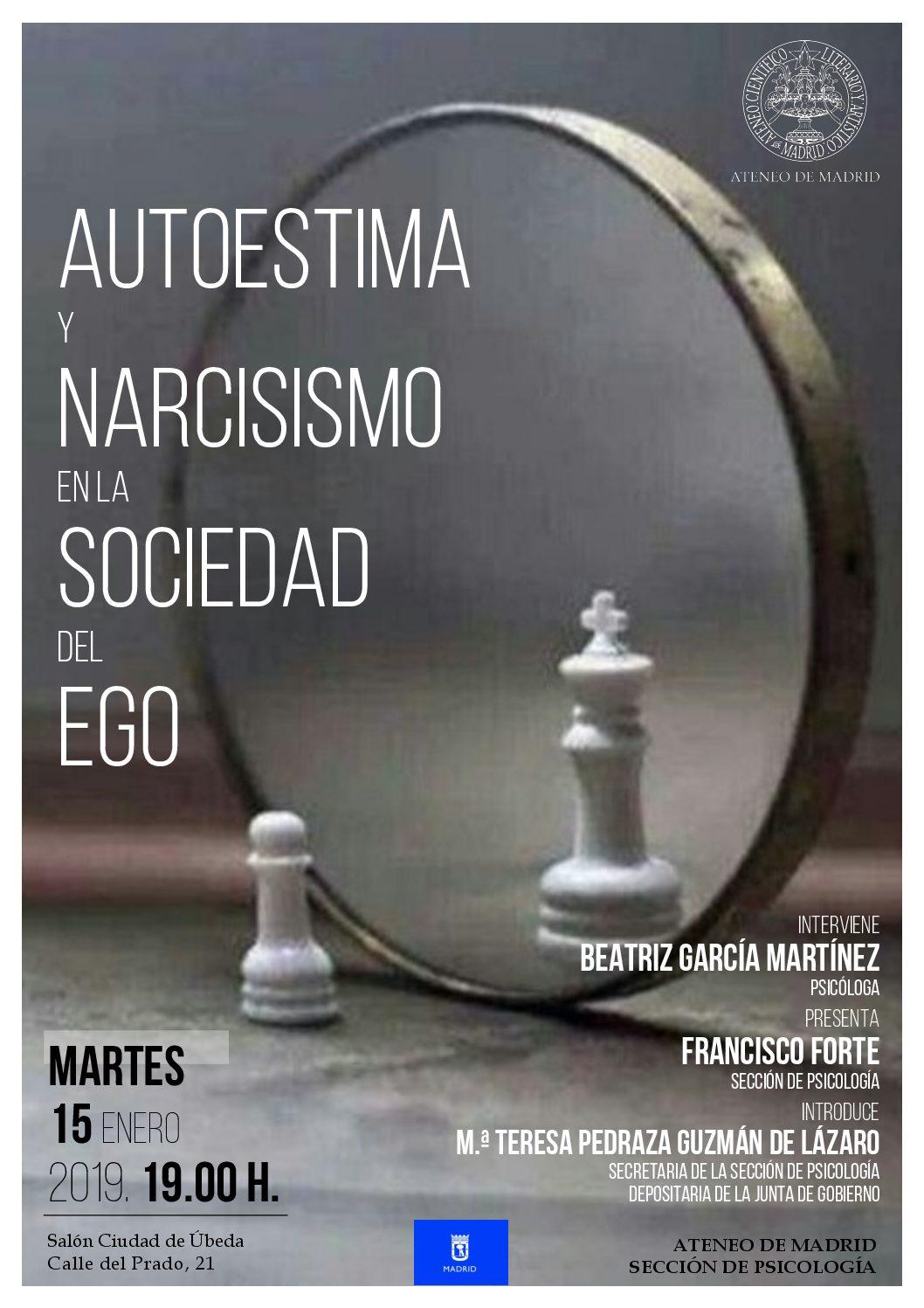 Conferencia en el Ateneo de Madrid: autoestima y narcisismo en la sociedad del ego.