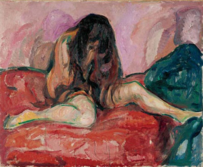 Cuadro de Edvard Munch para ilustrar los beneficios de la psicoterapia para la depresion