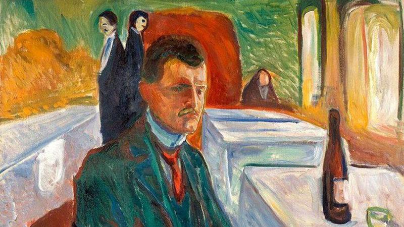 Cuadro de Edvard Munch para ilustrar cómo el psicoanalisis puede ayudar en el tratamiento de la depresion