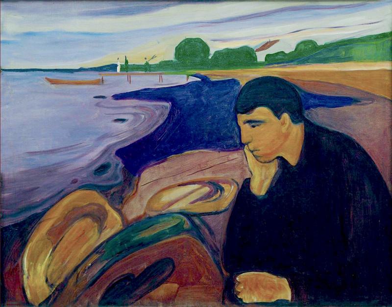 Cuadro de Edvard Munch para ilustrar el tratamiento psicoanalitico para la depresion