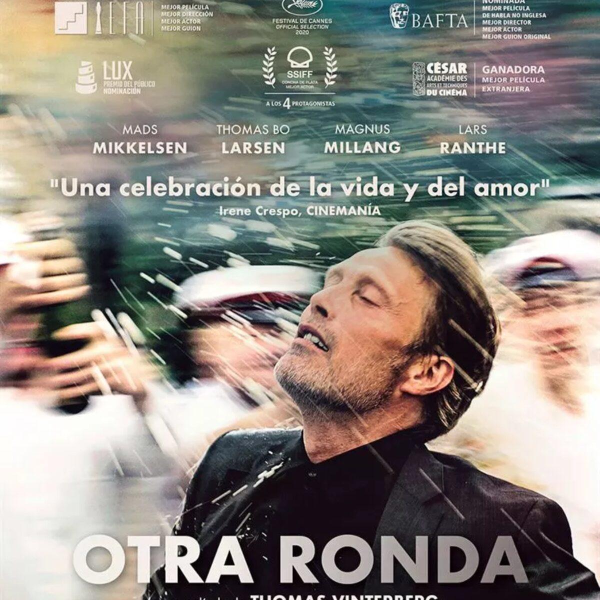 Cartel de la película ¡Otra ronda! que ilustra el artículo de Beatriz García sobre la relación entre la depresión y el alcoholismo